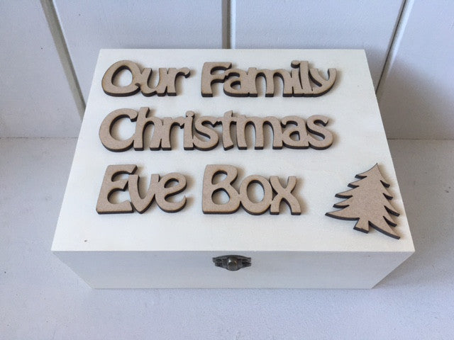 Christmas Eve Box - Personalised Hobo Font