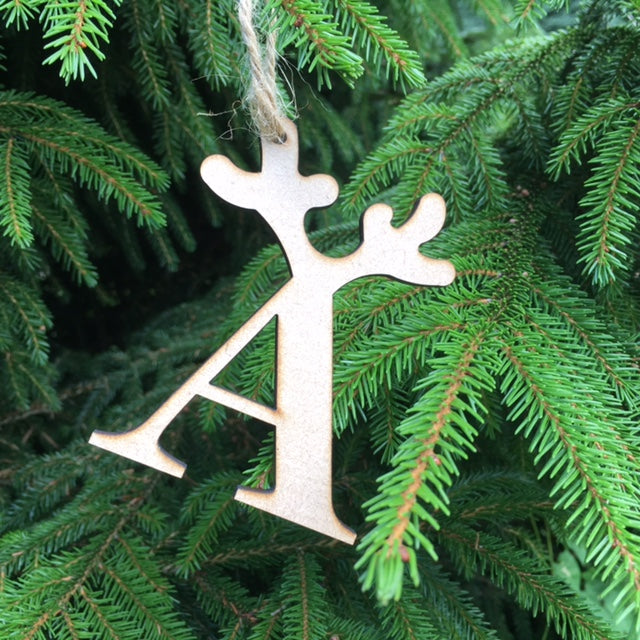 Antler Letter Tree Decorations - 9cms