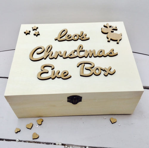 Christmas Eve Box  TOPPER ONLY  - Personalised Script Font