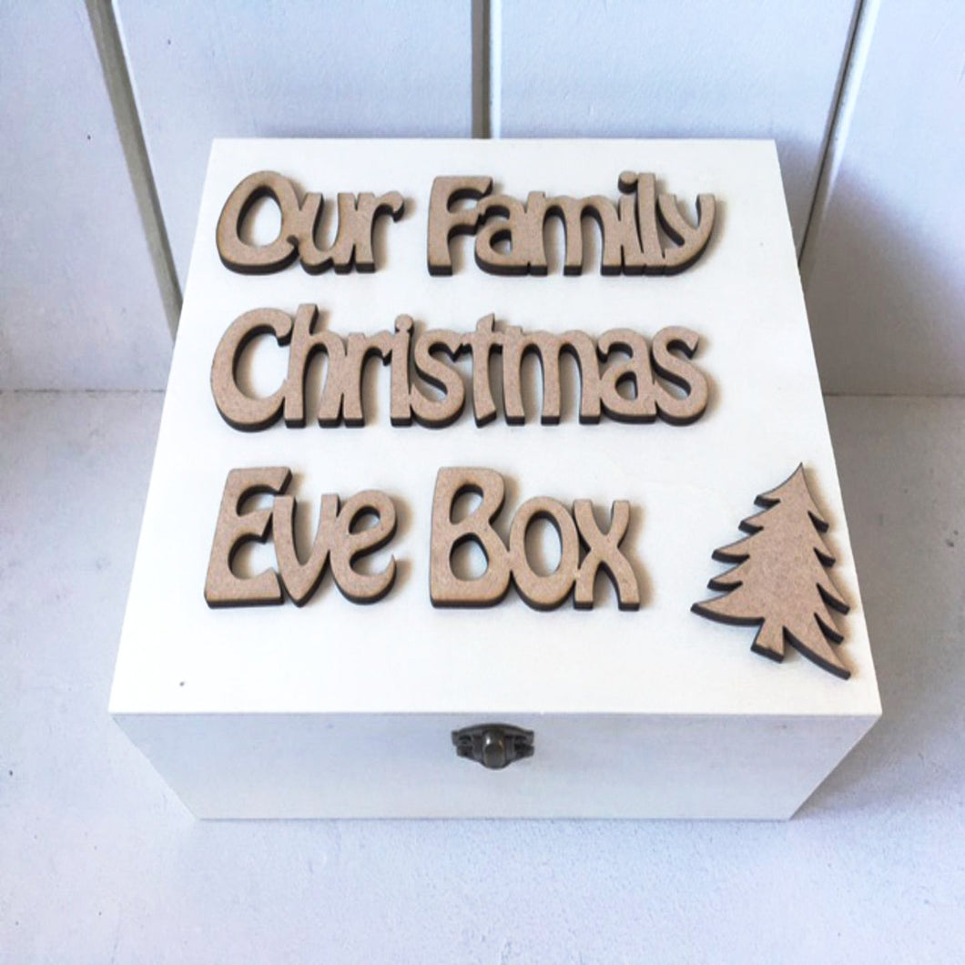 Christmas Eve Box  TOPPER ONLY  - Personalised HOBO Font