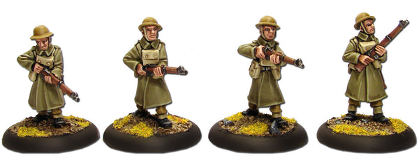 British Riflemen in Greatcoats