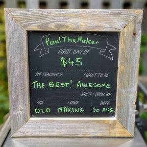 Back to School / First Day Chalkboard