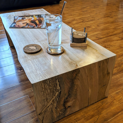 Handmade Ambrosia Maple Waterfall Coffee Table