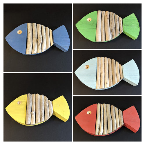 Handmade Reclaimed Wood and Driftwood Fish