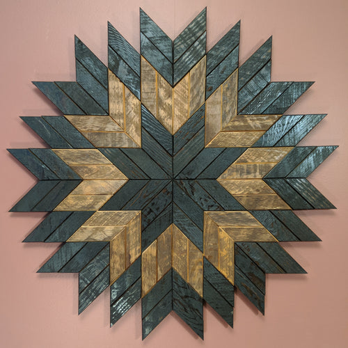 Geometric 'Starburst' Wooden Artwork