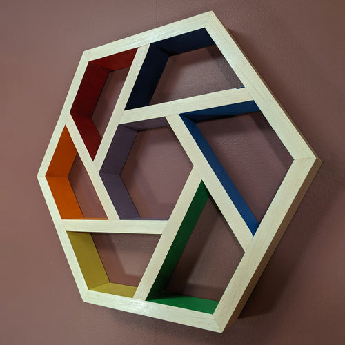 Hexagon Rainbow Shelf