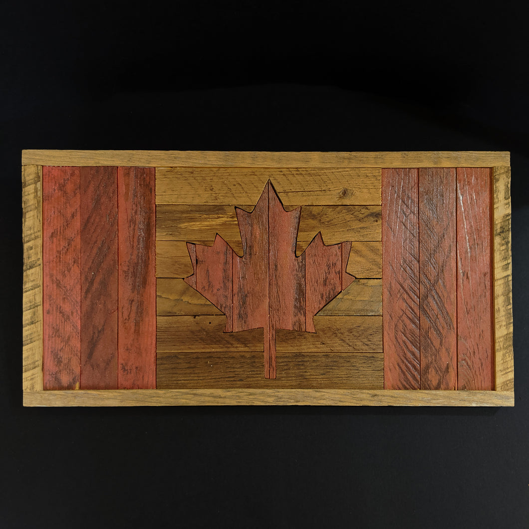 Reclaimed Wooden Rustic Canadian Flag