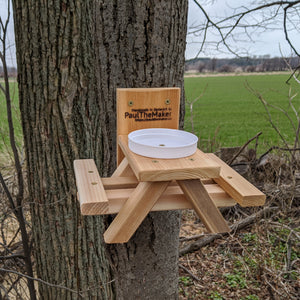 JuniorMaker Picnic Table Squirrel Feeder Kit