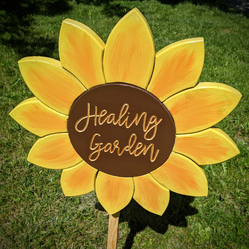 'Healing Garden' Sunflower Sign