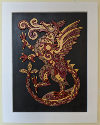 Goderich Celtic Roots Festival 2020 'Fire Dragon' Intarsia