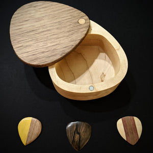 Guitar Pick Case with 3 Wooden Picks