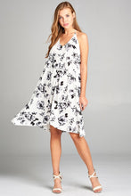 Asymmetric Open Back Halter Neck Floral Dress