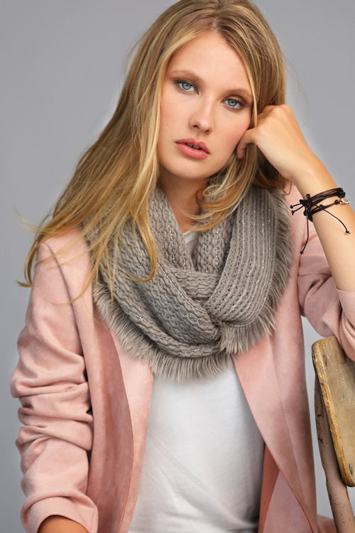 The BBasic Infinity Scarf with Fringe