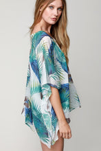 Blue Tropical Pattern Coverup