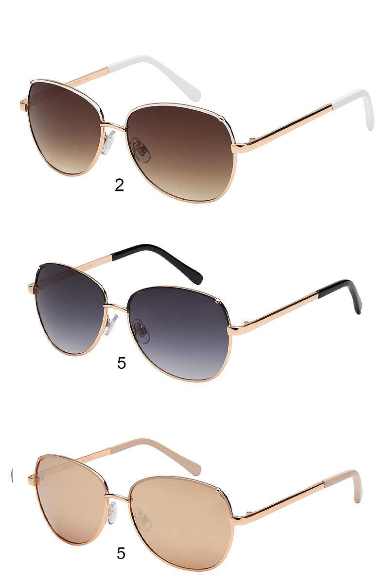 Trendy Fashion Retro Aviator Sunglasses