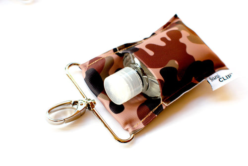SaniClip™ Hand Sanitizer Bottle Holder - Camo