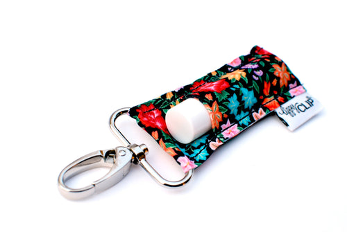 LippyClip® Black Tropical Floral
