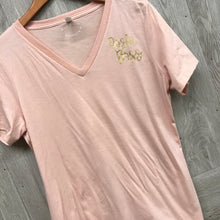 B2B Posh Boss Peach V-Neck Short Sleeve Tee BB518