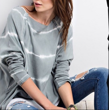 Tie Dye Oversized Long Sleeve Top