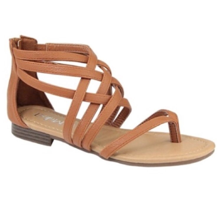 Gladiator Chestnut Sandals