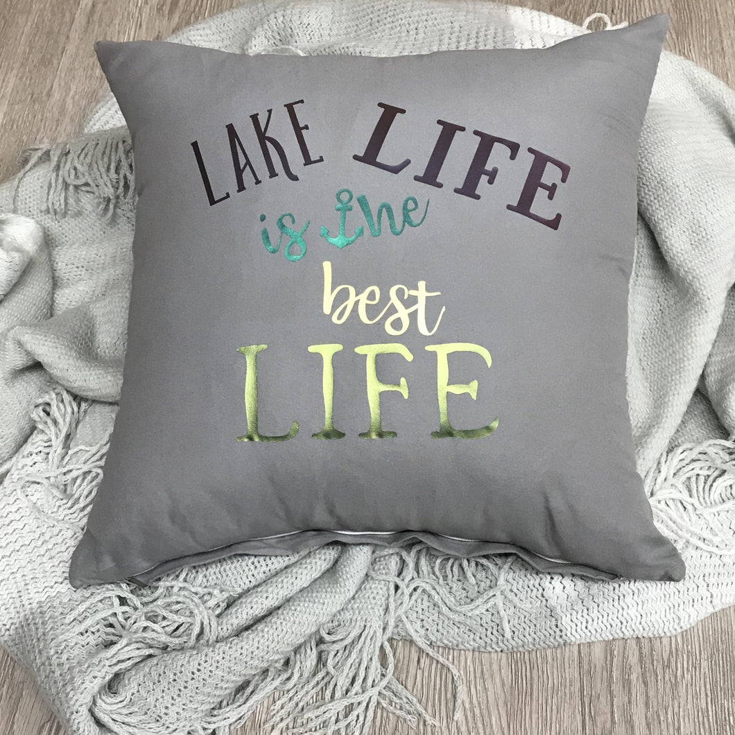 Life Is Better At The Lake Throw Pillow Cover A3