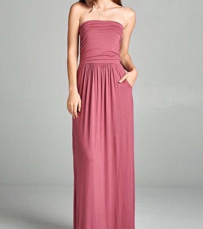 Tube Maxi Dress - Mauve