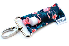 LippyClip® Navy with Coral Flamingos