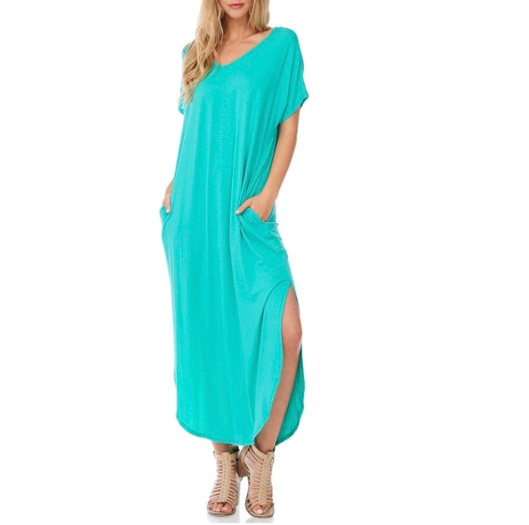 Mint Boyfriend Tee Maxi Dress