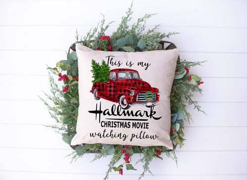 S- Christmas Movie Pillow- Pillow Cover