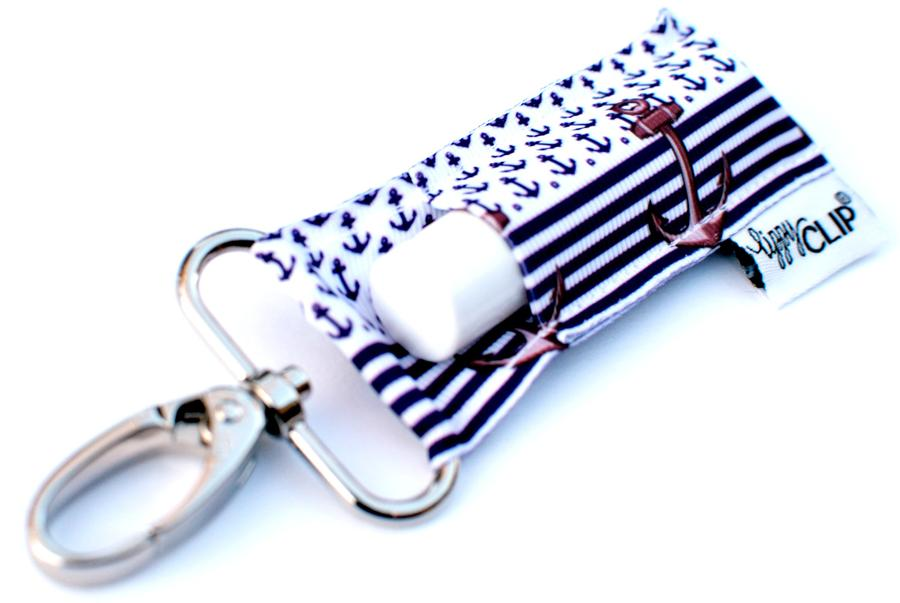 LippyClip® Navy Stripe Anchors