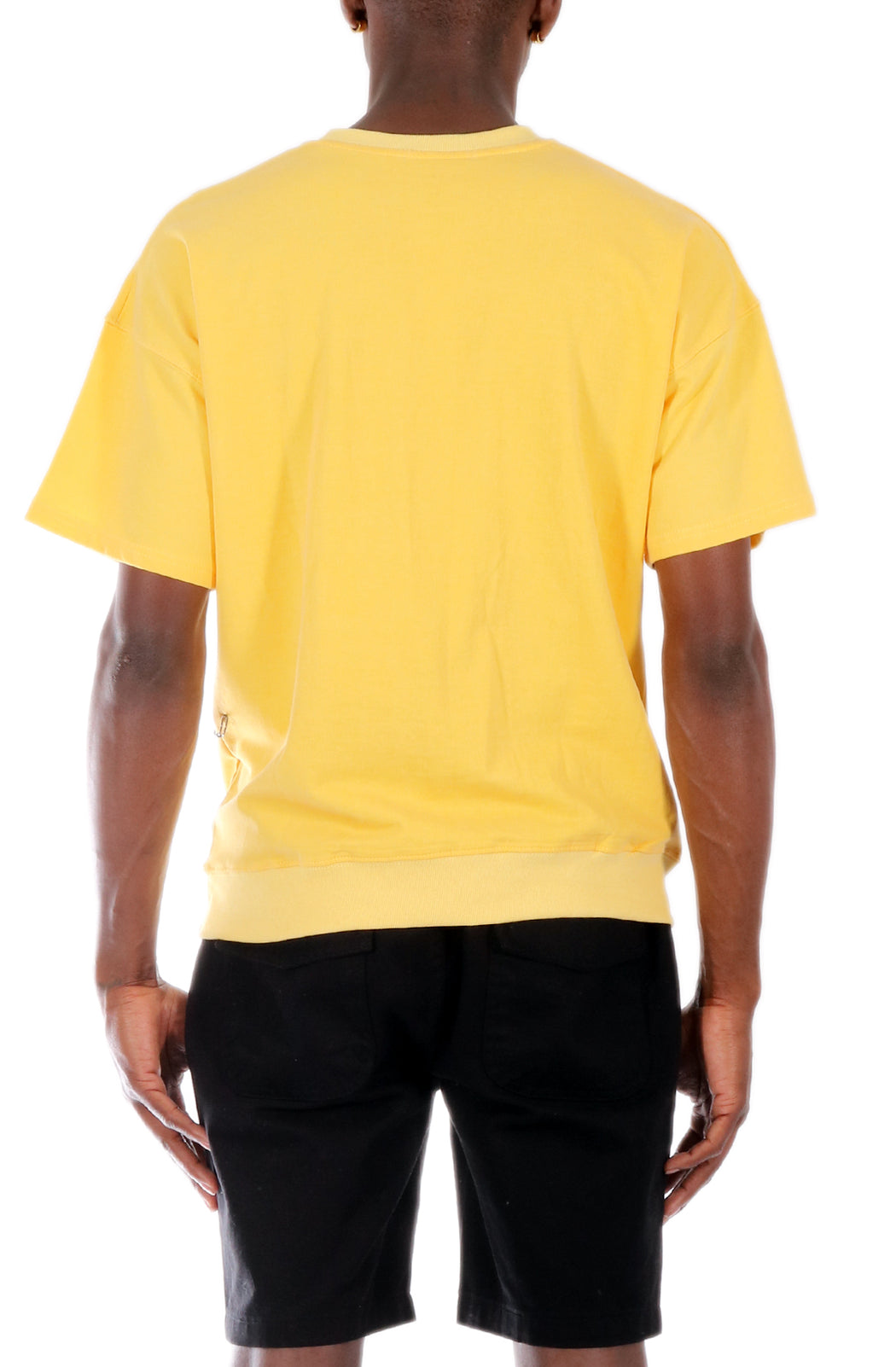 Allston Outfitter Pastel Color Terry Short Sleeve Crew Neck Pull Over Top in Pastel Yellow