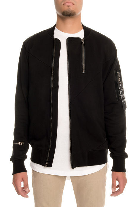 The S.Q.Z. Premium Cotton French Terry Jacket in Black (STY# GK-6000-BLACK)