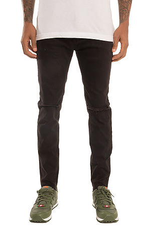 SQZ Premium Stretchable Denim Skinny Pants in Black (STY GD-2600-Black)