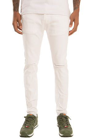 SQZ Premium Stretchable Denim Skinny Pants in White (STY GD-2600-White)