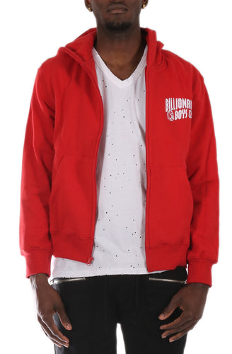 Billionaire Boys Club Helmet Zip Up Hoody in Red