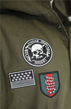 The Allston embroidery patched heavy cotton Pancho (Sty DM-112-ArmyGreen)