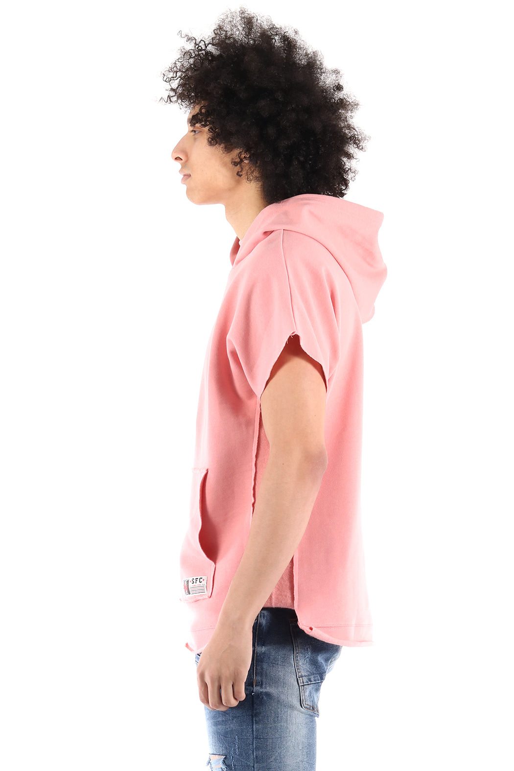 The SQZ Premium Cotton French Terry Oversized Pullover Hoody In Pink (HF-6020-Pink)