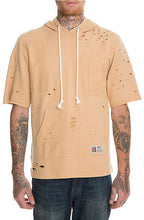 SpringfieldClassic Premium Cotton French Terry Short Sleeve Hoodie in Tan (Sty HF-6000-Tan)