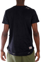 The SQZ Premium Cotton French Terry Tee in Timber (Sty HT-1010-Black)