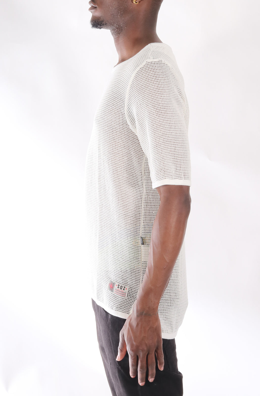 S.F.C Premium Cotton Mesh T-shirt With Finely Finished Edge In White (STY HT-1030-WHITE)