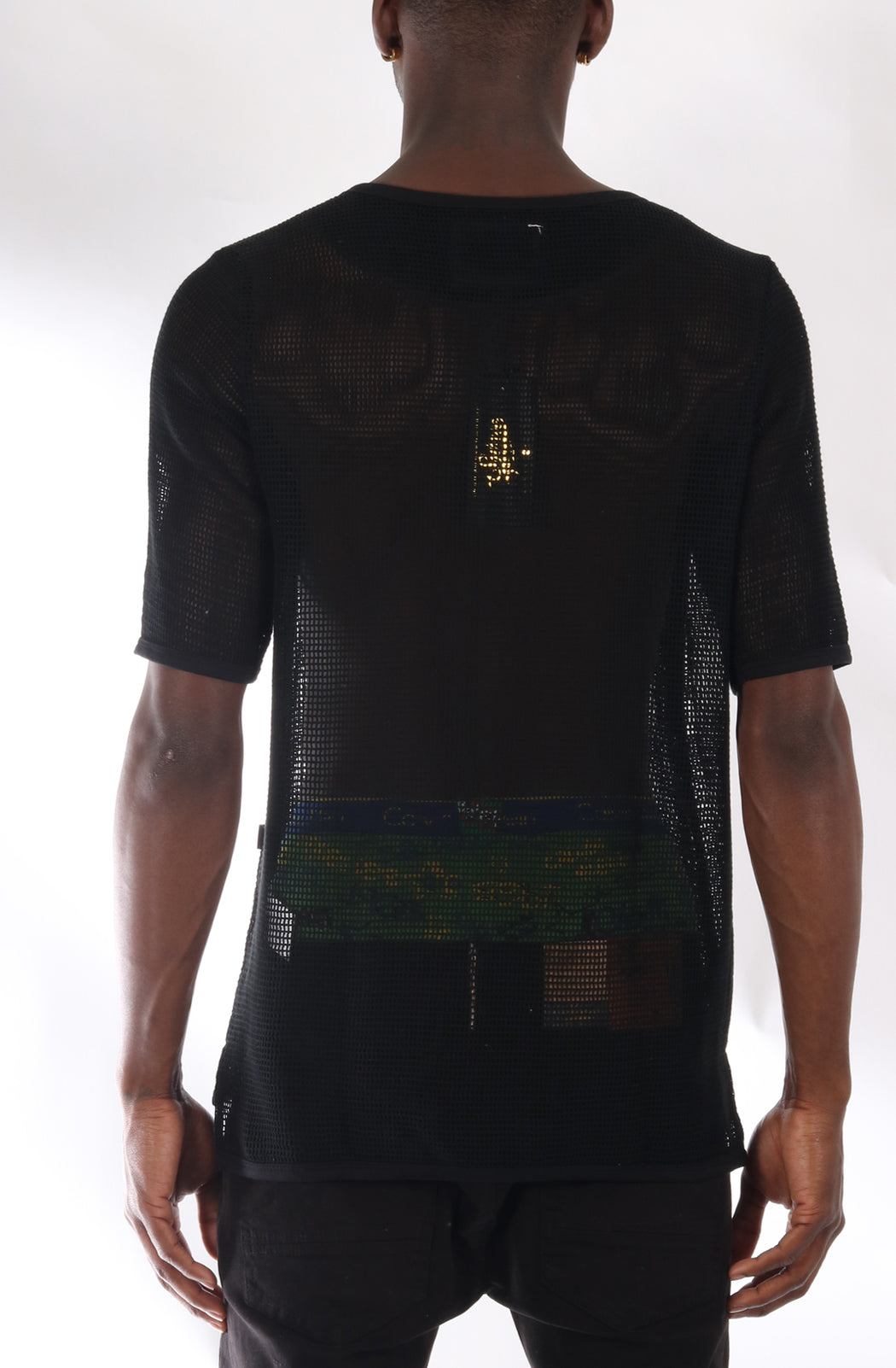 S.F.C Premium Cotton Mesh T-shirt With Finely Finished Edge In Black (STY HT-1030-BLACK)