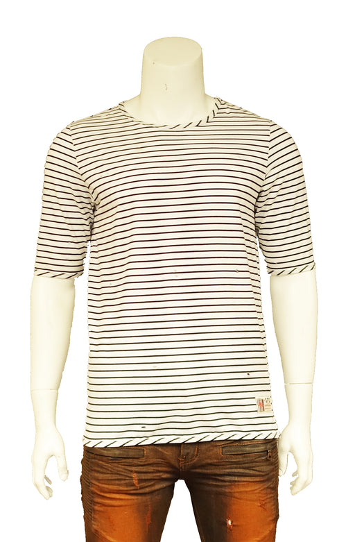 The Springfield Classic Ring Span Yarn Dye Stripe T-Shirt (Sty SM-103-Black)