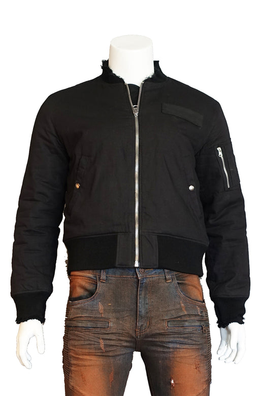 The SFC Cotton Bomber Fitted Jacket (Sty SM-106-Black)