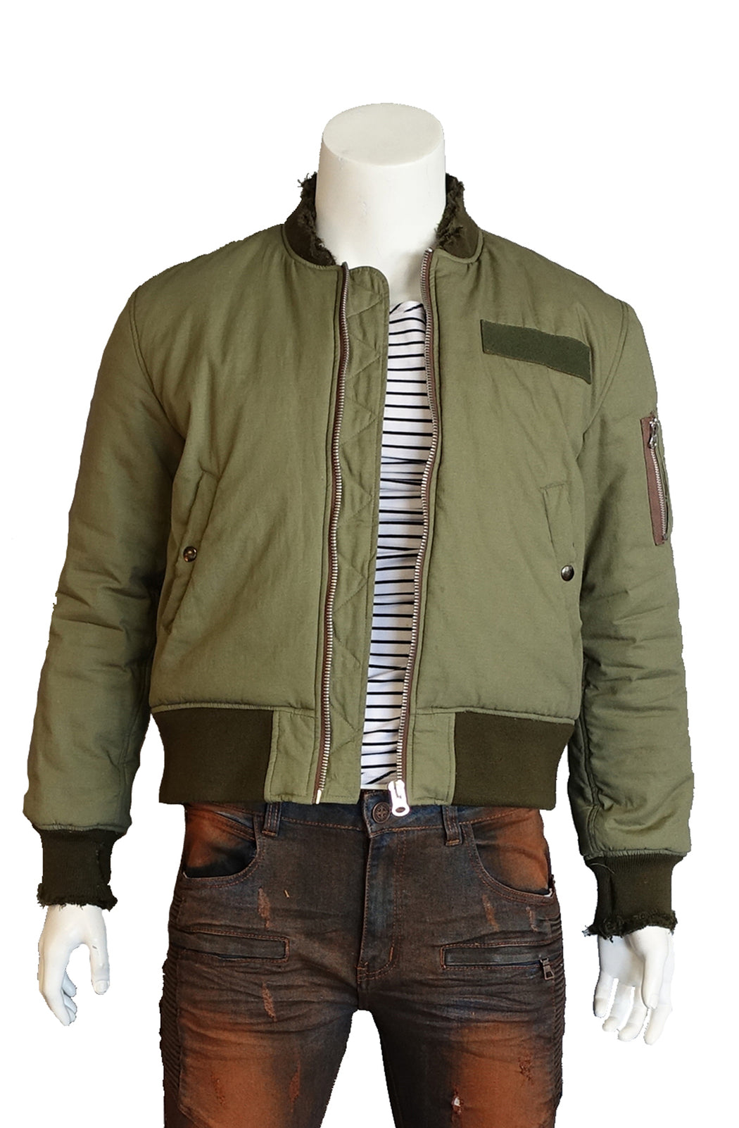 The SFC Cotton Bomber Fitted Jacket (Sty SM-106-Olive)