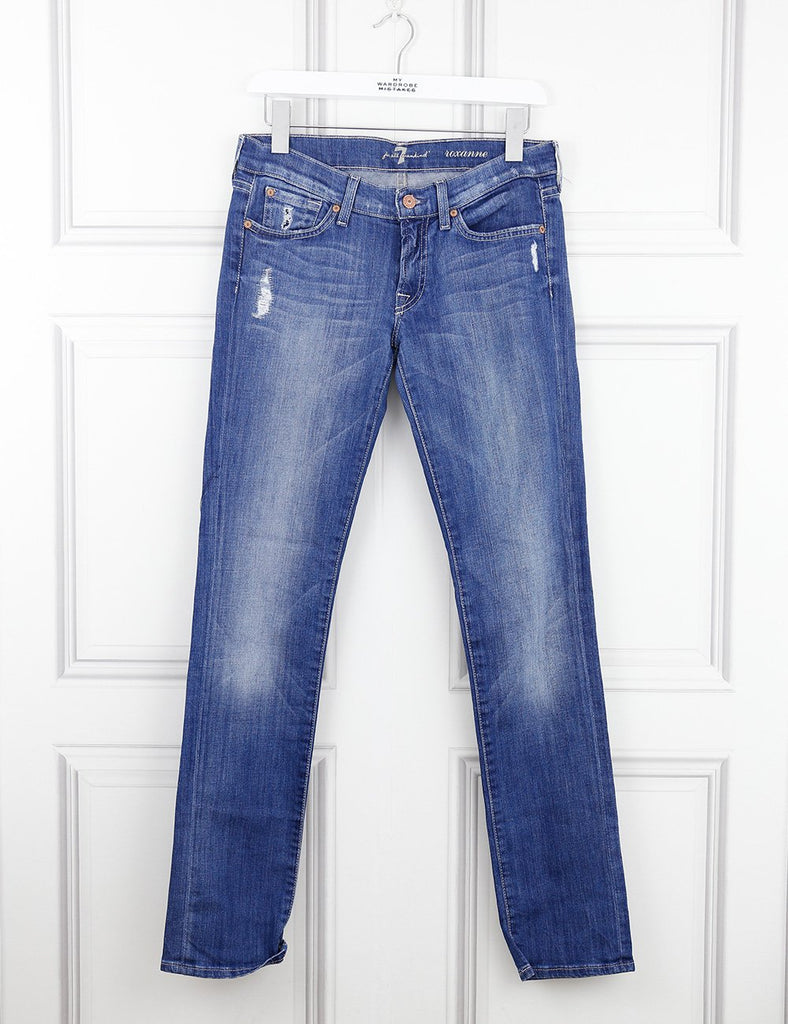 7 for all Mankind blue Roxanne jeans 10UK- My Wardrobe Mistakes