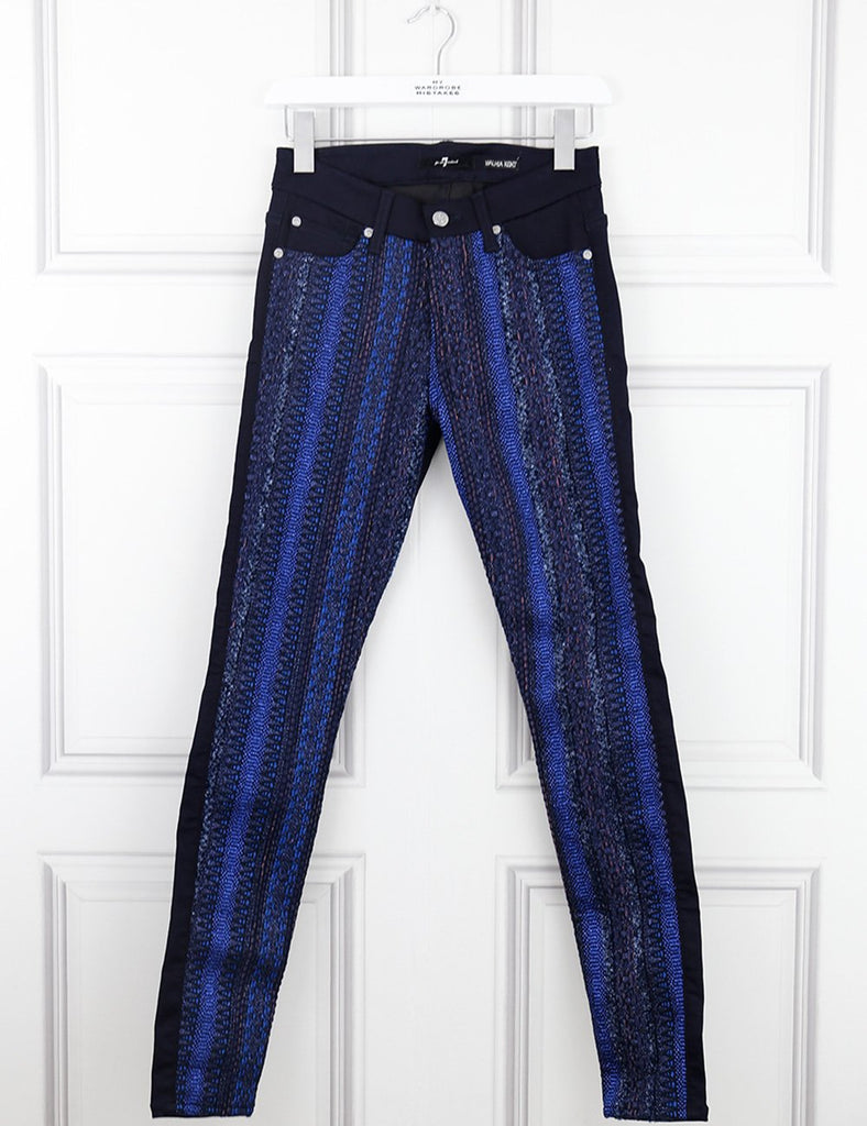 7 for all Mankind multicolour Mahlia sparkly trousers 8UK- My Wardrobe Mistakes