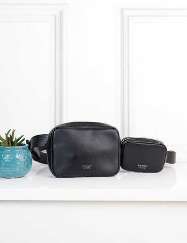 ACNE STUDIOS BAGS One size / Black ACNE STUDIOS Double-pouch belt bag