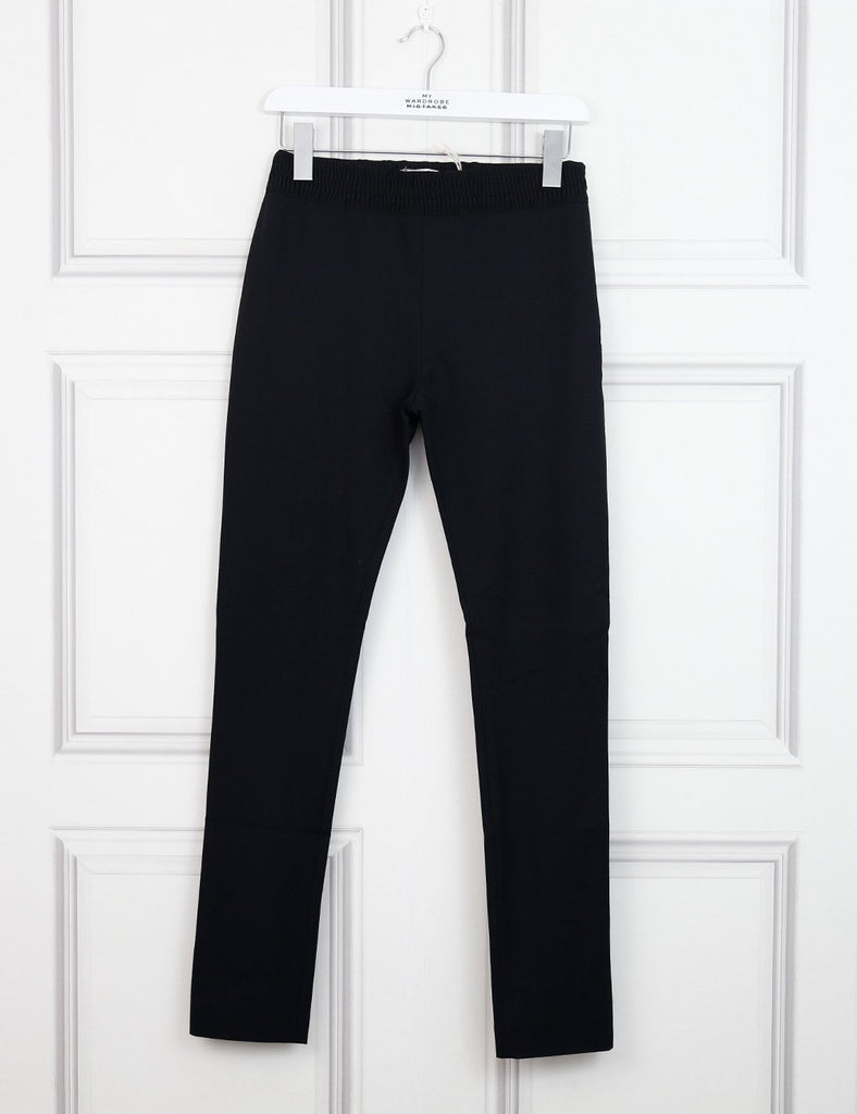 Acne Studios black elastic belt suit trousers with side zip 8Uk