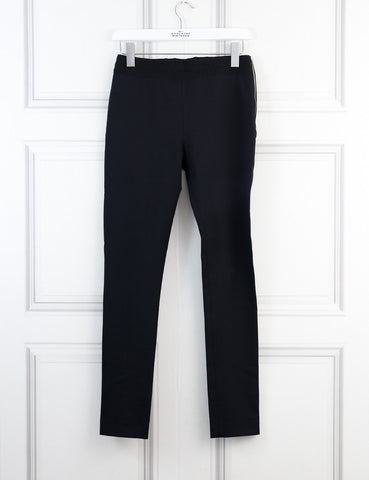 Acne Studios black elastic belt trousers with side zip 8Uk