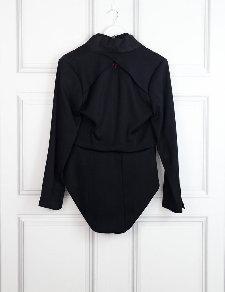 AF Vandevorst black long tail tailored blazer 12 Uk- My Wardrobe Mistakes